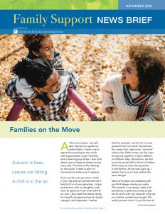 Family Support News Brief November 2020 cover image